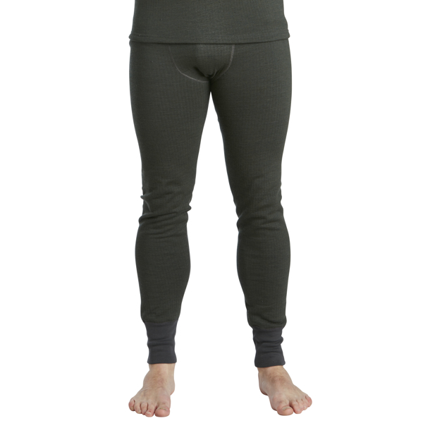 Long Johns Wool Original m green melange