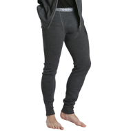 Long Johns Wool Original m grey melange
